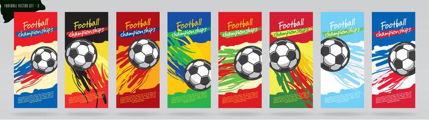 Soccer card design and football vector set.
