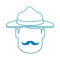 Canadian Ranger head avatar character vector illustration design