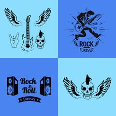 Rock'n'roll Forever Guitar Vector Illustration