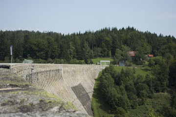 Schwarzenbach-Talsperre Dam at Black Forest in Rhineland-Palatinate, Germany