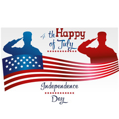 Happy independence day United states of America. 4th of July. Vector illustration. Fourth of July. Independence day. Vector sign