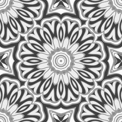 Beautiful geometric floral ornament. seamless art-deco pattern. vector illustration. for design, wallpaper, invitation.