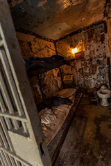 Interior of prison cell