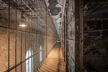Row of cells on a prison tier