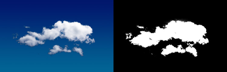 Cloud in the sky. A halftone clipping mask for gently carving out the cloud.