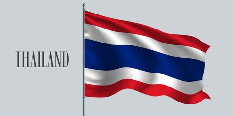 Thailand waving flag vector illustration