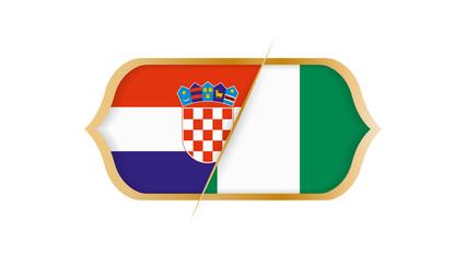 Soccer world championship Croatia vs Nigeria. Vector illustration.