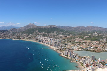 View of Calpe Spain