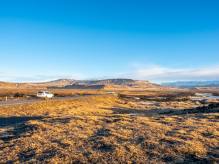 Natural view in morning in Iceland
