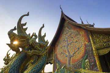 Fototapete - Sirindhorn Wararam Phu Prao Temple (Wat Phu Prao) in Ubon Ratcha Thani, Thailand.
