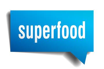 superfood blue 3d speech bubble
