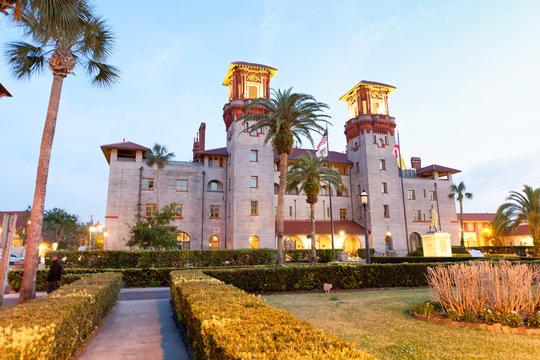 Lightner museum in St Augustine, sunset view