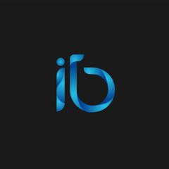 Initial Letter IB Logo Vector Design