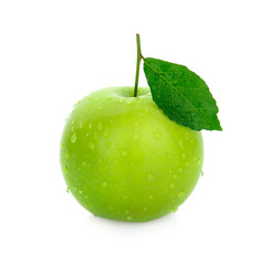 apple green isolated on white background