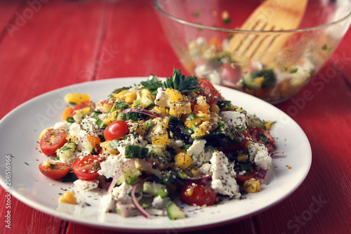 Sensational Colorful Vegetable Mix Simple Low Calories Salad Cherry Interior Design Ideas Clesiryabchikinfo