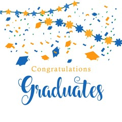 Congratulations Graduates Vector Template Design Illustration