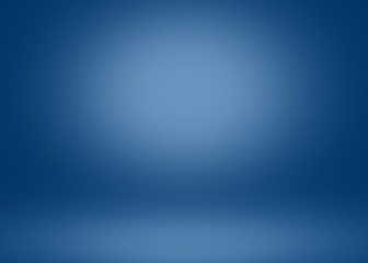 Abstract blue empty room lighting Studio background with empty space for your design.