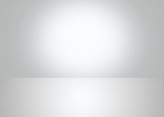 Abstract light grey empty room lighting Studio background with empty space for your design.