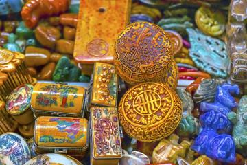 Old Colorful Ceramic Souvenirs Panjuan Flea Market  Beij