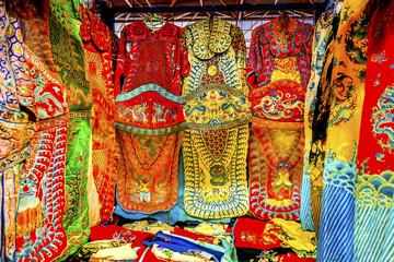 Dragon Replica Silk Robes Panjuan Flea Market Beijing China