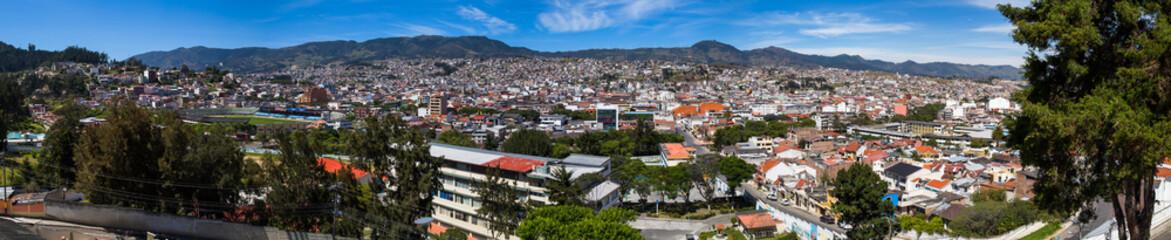 A panoramic view of Loja