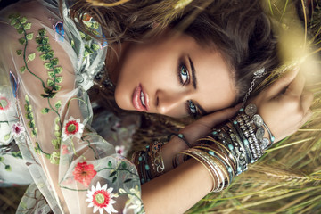 beautiful bohemian girl