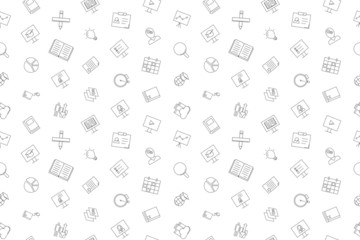 Training background from line icon. Linear vector pattern