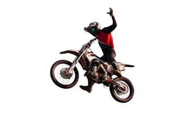 motocross freestyle isolated