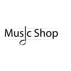 music shop label