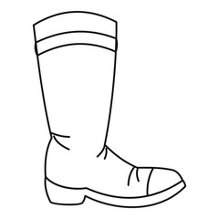 Cowboy boot icon in outline style isolated on white background vector illustration