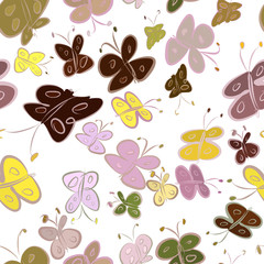Seamless abstract illustrations of butterfly, conceptual. Pattern, background, surface & design.