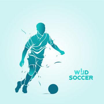 wild soccer splash silhouette