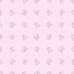 Seamless illustrations of butterfly. Pattern, details, messy & cover.