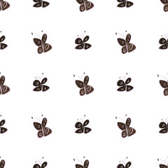 Seamless butterfly illustrations background abstract, hand drawn. Shape, set, texture & canvas.