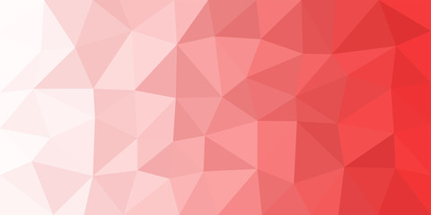 White Red Low Poly Vector Background