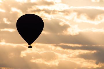 Silhouette of a baloon during sunrise, Bagan, Myanmar