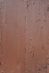 Orange Painted Corrugated Metal Sheet