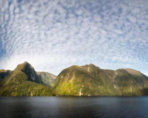 Beautiful summer day at Doubtful Sound, New Zealand