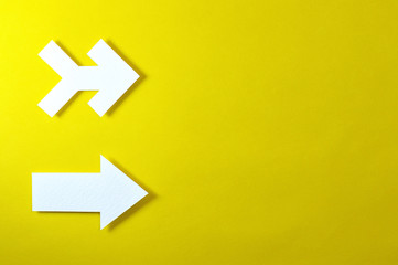 arrows template with yellow background