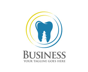 Dentist colorful logo, Dental care or Dental clinic