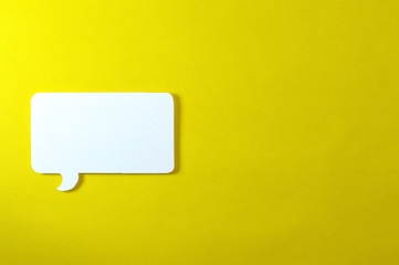 rectangle text bubble on yellow background