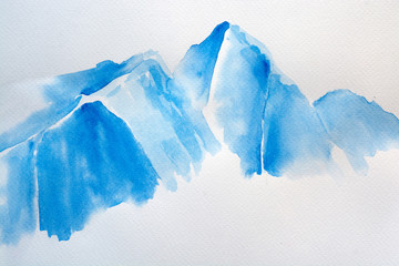 Mountain range in blue shades
