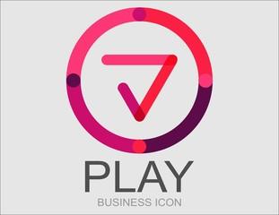 Logotipo play avanzar