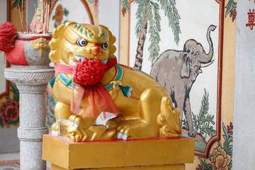 タイ バンコク:タイ中国寺 Thai-Chinese Temple Lao Bun Thao Gong Shrine ศาลเจ้าเล่าปูนเถ้ากง