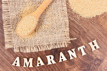 Amaranth as source vitamins, minerals and dietary fiber, healthy nutrition