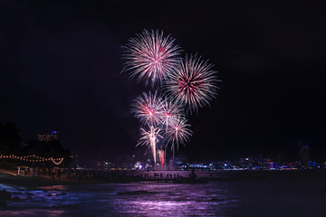 Fireworks Festival in Pattaya City