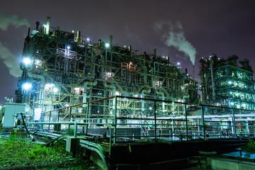 Nightview of Keihin Industrial Area in Kawasaki, Japan.(京浜工業地帯 工場夜景)