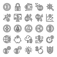 cryptocurrency pixel perfect icons
