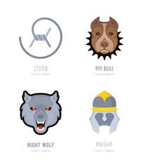 Set of Security Company Logos.