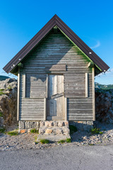 A wooden mountain house, closed